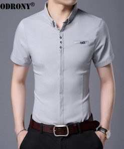 COODRONY 2017 Spring Summer New Business Casual Short Sleeve Shirt With Pocket Pure Cotton Shirt Men Slim Fit Chemise Male S7709 1