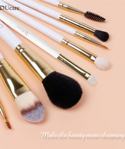 DUcare Professional Makeup Brush Set 8pcs High Quality Makeup Tools Kit with bag super nice beauty essential  brush set 1