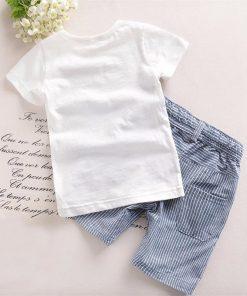 Softu Hot Sale Boys Clothing Children Summer Boys Clothes Cartoon Kids Boy Clothing Set T-shit+Pants Cotton 1