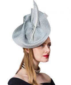FS Fascinators Patchwork Pillbox Hat For Weddings Dress Women Vintage Fedora Ladies Elegant Feather Sinamay Base Bridal Hats 1
