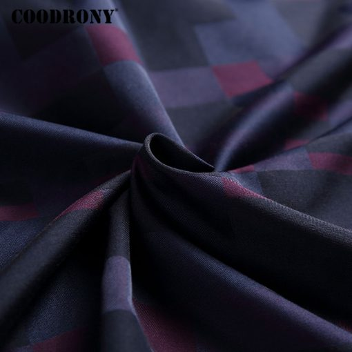 COODRONY Men Shirt Mens Business Casual Shirts 2017 New Arrival Men Famous Brand Clothing Plaid Long Sleeve Camisa Masculina 712 5