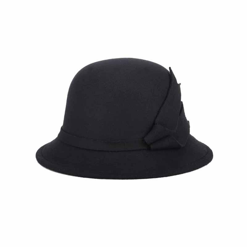FS 2017 Bucket Hats Wide Brim Felt Bowler Fedora Hat Black Khaki New Autumn Winter Fisherman Caps For Women Cloche Cap 1