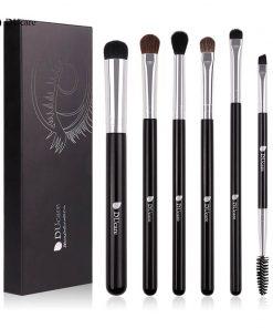 DUcare Makeup Brushes 6 PCS Eyeshadow Brush Blending Eyebrow Make Up Brushes Pony Hair Synthetic Bristles Beauty Cosmetics Kits