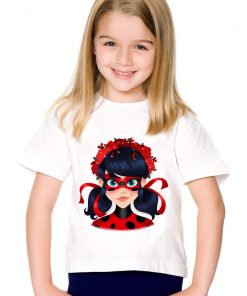Cartoon Miraculous Ladybug Printed Children Funny T-shirts Kids Summer O-Neck Tees Boys/Girls Casual Tops Baby Clothes,HKP5149 1