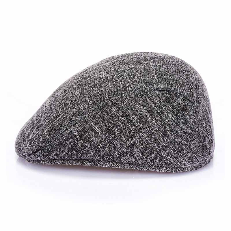 FS Gray Brown Beret Caps Fashion Curved Brim Hats Spring Summer Outdoor Sun Breathable Mens Black Berets Cap 1