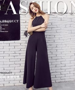 Bella Philosophy summer hanging neck women jumpsuit sleeveless backless sexy office ladies rompers hollow out female jumpsuits