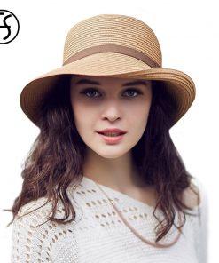 FS Womens Summer Hats 2017 Female Beach Straw Hat Wide Brim Floppy Fashion Sun Cap Casual Foldable Cappello Donna Estate