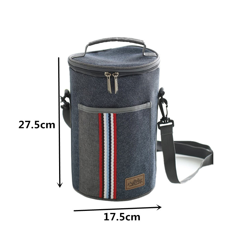 Oxford Thermal Shoulder Lunch Bag Tote Women Kid's Portable Insulated Cooler Thermo Bag Leisure Accessory Supply Products Stuff 1