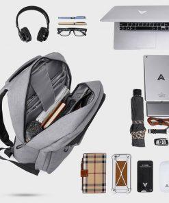 "KAKA17010 High Capacity Men Backpack Bag with USB Charger Port Notebook 17"" Men's Mochila Black 2018 Fashion Backpack for Travel"