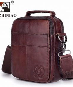 FUZHINIAO Designer Top Genuine Cowhide Leather Men's Shoulder Bag Clutch Handbag Messenger Male Bags Crossbody Sling Tote Small