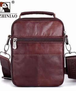 FUZHINIAO Designer Top Genuine Cowhide Leather Men's Shoulder Bag Clutch Handbag Messenger Male Bags Crossbody Sling Tote Small  1