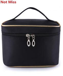 Do Not Miss Women Portable Cosmetic Bag Women Travel Folding Waterproof Makeup Bags Zipper Wash Gargle Bag Cosmetics Organizers