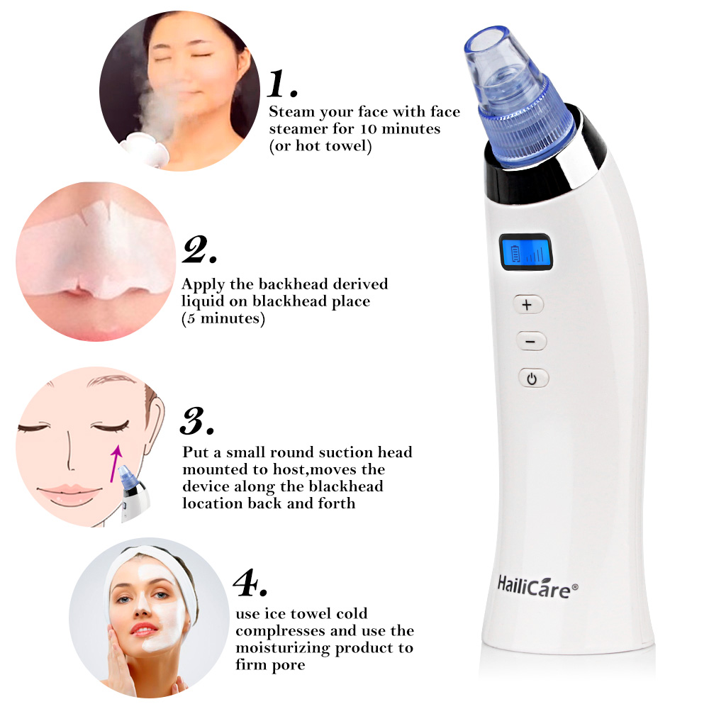 Skin Care Pore Vacuum Blackhead Remover Acne Pimple Removal Vacuum Suction Tool Face Clean Facial Diamond Dermabrasion Machine 1