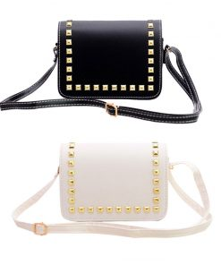Fashion Women Small PU Leather Messenger Bags Rivet Crossbody Shoulder Bags Female Shopping Bag Handbags Clutches Bolsa Feminina 1