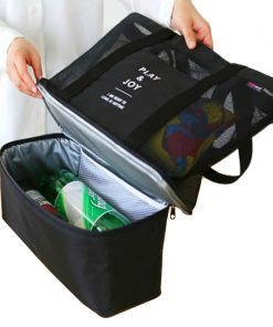 Do Not Miss 2017 Picnic Cooler Bag Portable Food Beer Cooler Multifunction Hands Baby Diaper Bags Bottles Food Organizer Ice Bag