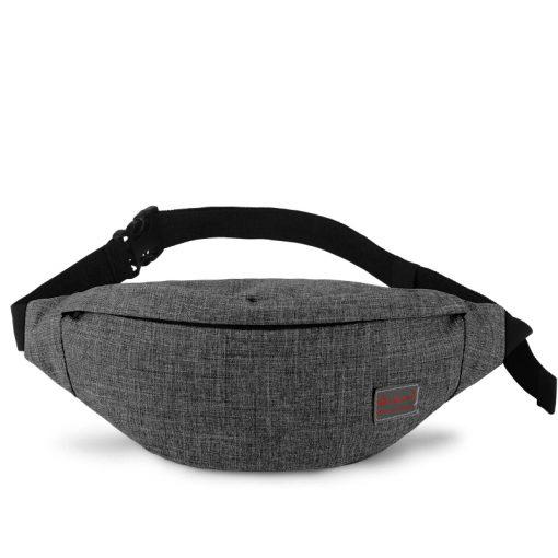 TINYAT Men Canvas Backpack School Casual Laptop Backpack Gray Composition Bags Leisure Male Waist Belt Bag Crossbody t101 t201  5