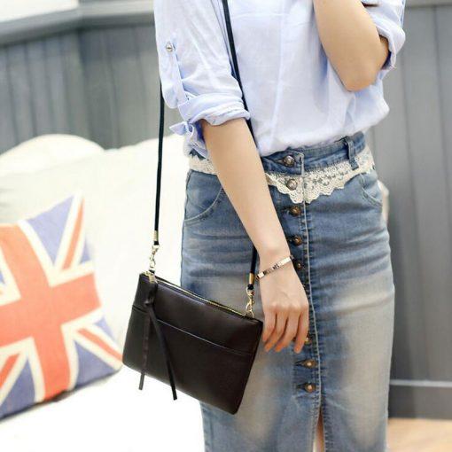 New High Quality Women Clutch Bag Fashion PU Leather Handbags Flap Shoulder Bag Ladies Messenger Bags Crossbody Purse 9L51 2