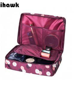 Mihawk Beautician Vanity Necessaire Trip Women Travel Toiletry Wash Bra Underwear Makeup Case Cosmetic Bag Organizer Accessories