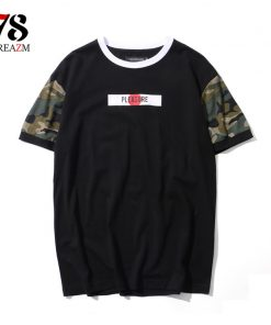 2018 cotton t shirts mens new summer street wear hip hop T-SHIRTS brand fashion zipper on sleeve t-shirts pure color 1