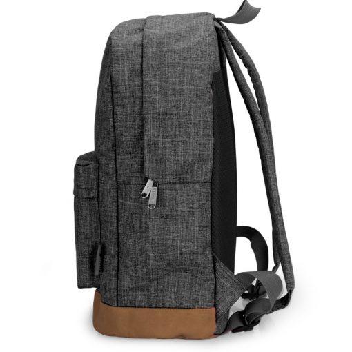 TINYAT Men Canvas Backpack School Casual Laptop Backpack Gray Composition Bags Leisure Male Waist Belt Bag Crossbody t101 t201  3
