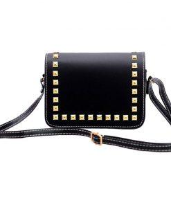 Fashion Women Small PU Leather Messenger Bags Rivet Crossbody Shoulder Bags Female Shopping Bag Handbags Clutches Bolsa Feminina