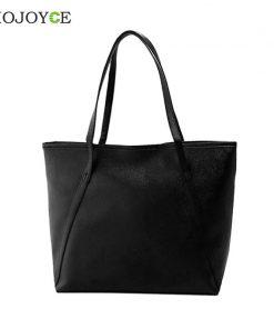 Simple Fashion Handbags Women Shoulder Bags Solid Color Big Tote Bag Bolsa Women PU Leather Handbags Black Bucket Bolsa Feminina