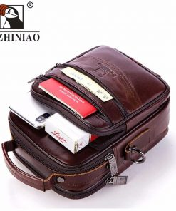 FUZHINIAO Brands Handbags Flap Genuine Leather Shoulder Bags Vintage Style Male Small 2018 Promotion Designers Messenger Bag