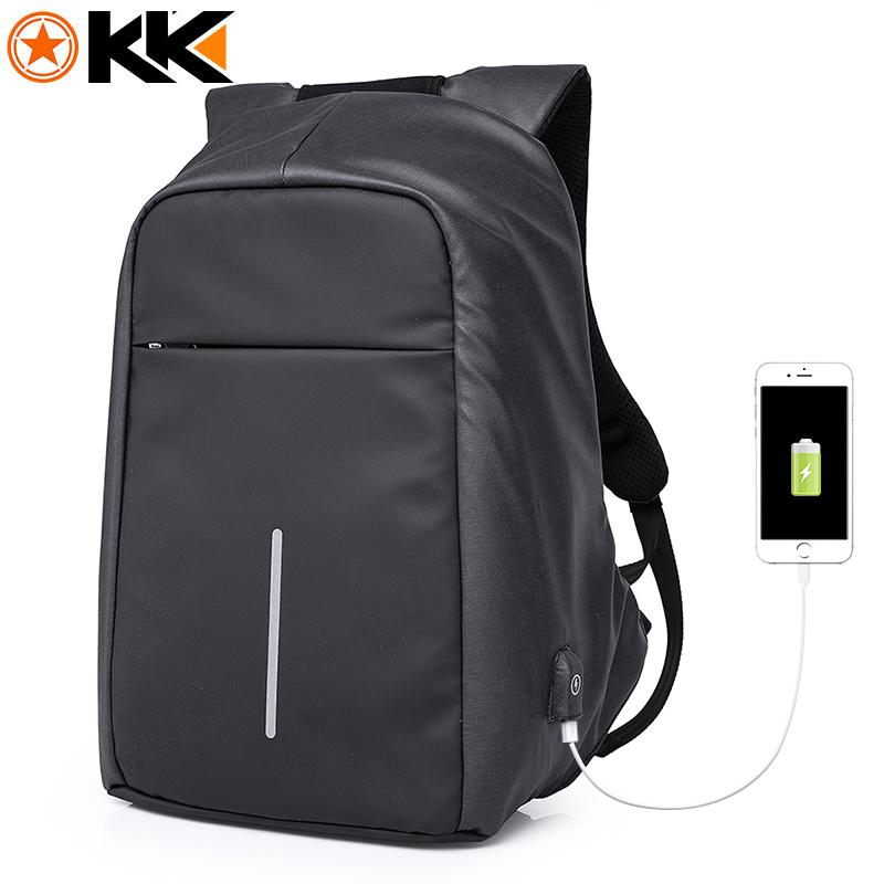 KAKA17012 Fashion Black Male Backpack Men USB Waterproof Boddy Anti theft Backpack Laptop Bag 15.6 Mochilas School Mens Backpack 1