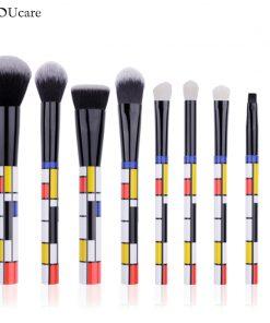 DUcare 9 PCS Makeup Brushes Kabuki Foundation Eyeshadow Blending Powder Brush Goat Hair Make Up Brushes Cosmetic Tools Set 1