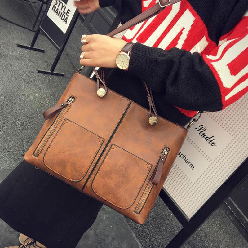 New Vintage Designer PU Leather Handbags High Quality Women Shoulder Bags Crossbody Top-handle Tote Bags Bolsas Feminina 1