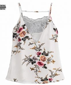 FEITONG 2017 Women White Lace Vest Top Sleeveless Casual Tank Blouse Summer Tops Shirt