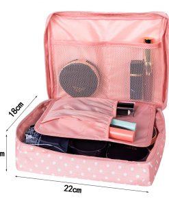 Mihawk Beautician Vanity Necessaire Trip Women Travel Toiletry Wash Bra Underwear Makeup Case Cosmetic Bag Organizer Accessories 1