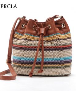 REPRCLA New Color Bucket Bag Fashion Women Shoulder Bags High Quality Crossbody Messenger Bags PU Leather Designer Women Bags 1
