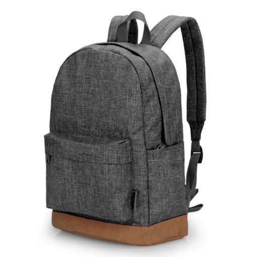 TINYAT Men Canvas Backpack School Casual Laptop Backpack Gray Composition Bags Leisure Male Waist Belt Bag Crossbody t101 t201  2