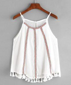 Women's shirts 2017 sleeveless women summer blouses round neck casual ladies sleeveless women blouses solid o-neck summer tops 1
