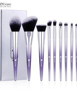 DUcare 9 PCS Makeup Brush Set Makeup Brushes Powder Eyeshadow Foundation  Concealer Eyebrow Brush Cosmetic Tools 1