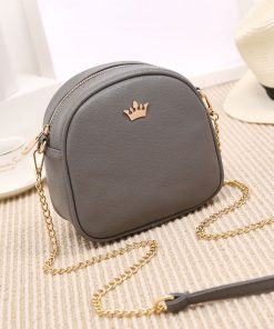 REPRCLA New Brand Designer Women Messenger Bags Chain Strap Shoulder Bag High Quality Handbags PU Leather Crossbody With Crown 1