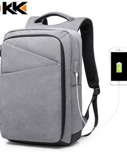 "KAKA17010 High Capacity Men Backpack Bag with USB Charger Port Notebook 17"" Men's Mochila Black 2018 Fashion Backpack for Travel 1"