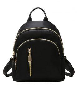 YBYT brand new nylon casual women rucksacks preppy style black small bags girls student school bookbags ladies travel backpacks 1