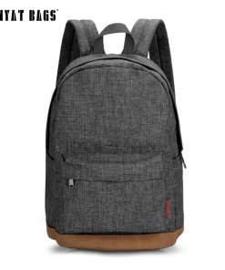 TINYAT Men Canvas Backpack School Casual Laptop Backpack Gray Composition Bags Leisure Male Waist Belt Bag Crossbody t101 t201  1