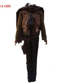 2017 Jyn Erso cosplay Costume Rogue One A Star Wars Story costume Jyn Erso Outfit Adult Carnival Halloween Costume