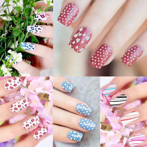 93 Designs 1 Piece Colored Nail Transfer Foil Sticker Laser Line White Black Flower Lace Decal Nail Art Sticker Wrap Holographic 4
