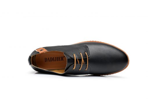 DADIJIER New 2017 Men Leather Shoes Casual Lace-up Shoes Black Brown Flat Cheap Leather Loafers Oxford shoes ST52 3
