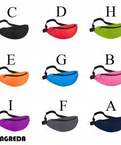 2018 Fanny Pack Women Waist Bag Summer Hip Bag Travel Fashion Bum Bag Hengreda Men Waistbag Belt Zipper Pouch Bags Black 1