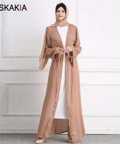 Siskakia Muslim Abaya Women Fashion Beading patchwork Muslimah kaftans and Jubah Female Ramadan Prayer robes brief elegant tunic