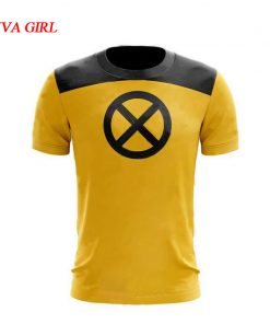 Deadpool 2 Cosplay Costumes Dead Pool Yellow Tshirt Movie TV Wade Winston Wilson T-shirt Top Summer Short Sleeve Superhero Men