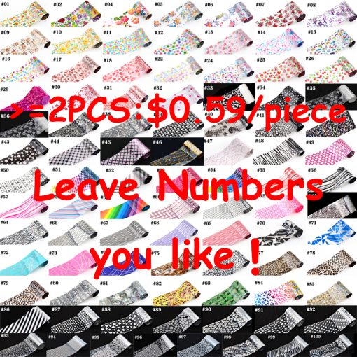 93 Designs 1 Piece Colored Nail Transfer Foil Sticker Laser Line White Black Flower Lace Decal Nail Art Sticker Wrap Holographic 1