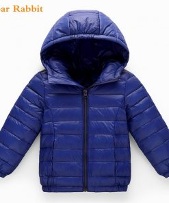 2-10Y Light 90% Duck Down jacket children Outerwear Boy Girl autumn Warm Hooded Coat teenage parka kids winter Jackets & Coats