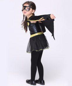 LIVA GIRL Child Animal Cosplay Cute Bat Costume Kids Halloween Costumes For Girls Black Jumpsuit Connect Wings Cosplay Batman 1