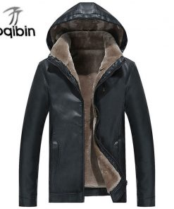 2018 Winter Men's Leather Jacket Warm Thick PU Coat Male Thermal Fleece Jackets Faux Leather Men Brand Clothing 3XL Plus Size